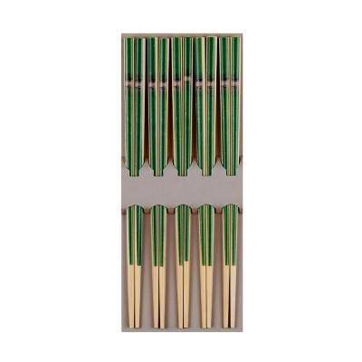 Essstäbchen-Set hell 'grüner Bambus'