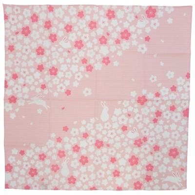 Furoshiki Sakura Usagi 50x50cm