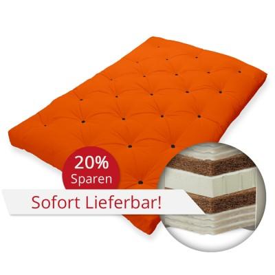 Luxusfuton '6SW+2KO+1LA' 80x200 cm Orangerot