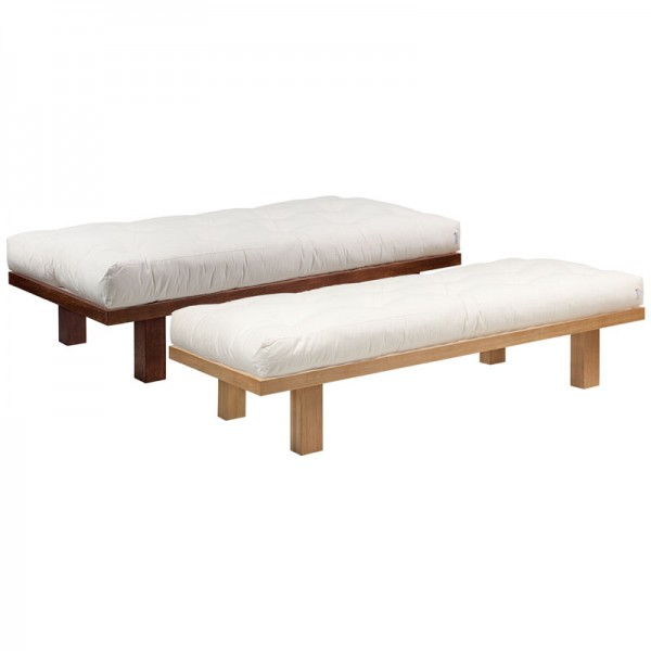 futonbett mit lattenrost und baumwollfuton set. Black Bedroom Furniture Sets. Home Design Ideas
