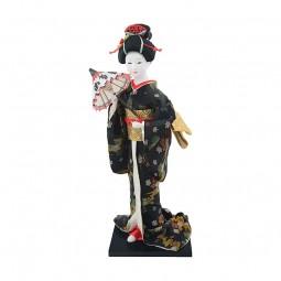 Geisha Figur beim Fächertanz