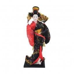 Geisha Figur mit Sonnenschirm