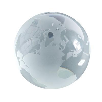 Globus aus Glas / Briefbeschwerer