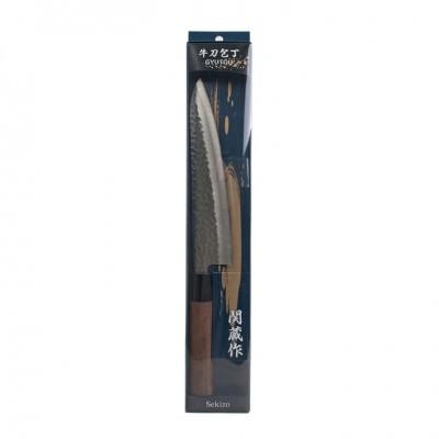 Gyuto Messer aus Edelstahl 19,5cm Klinge, Stil gehämmert