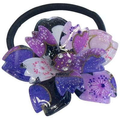 Haargummi - Kirschblüte groß lila