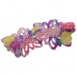 Haarklammer Blumen lila