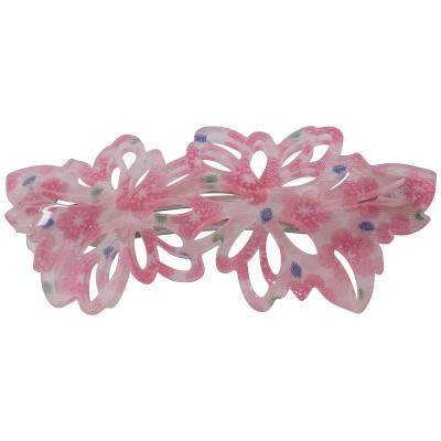 Haarklammer Sakura pink