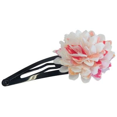 Haarspange - Stoffblume weiß