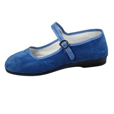 China Samtschuhe - Jeansblau
