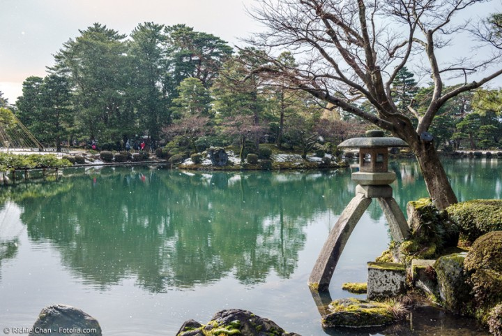 Der japanische Garten Kenrokuen - einer der berühmten Drei