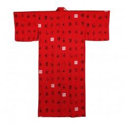 Kimono Kanji rot, gefüttert BW 60''