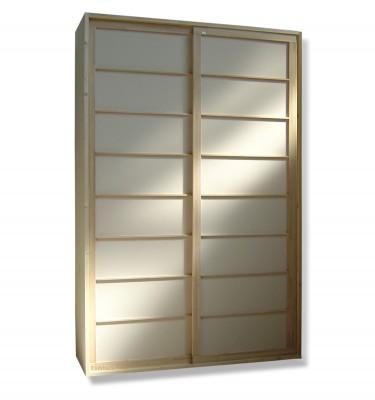 Kleiderschrank System - Shoji Fichte - 160cm breit mit 2 Türen
