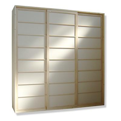 Kleiderschrank System - Shoji Fichte - 240cm breit mit 3 Türen