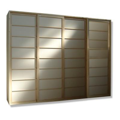 Kleiderschrank System - Shoji Fichte - 320cm breit mit 4 Türen