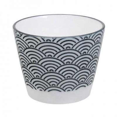 Kleine Tasse - Japan Schwarz - Seigaiha