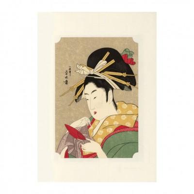 Kunstdruck - Eisui Bijin mit Sakazuki