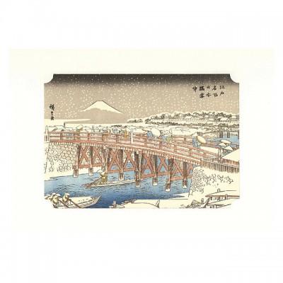 Kunstdruck - Nihonbashi im Winter