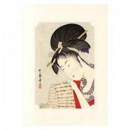 Kunstdruck - Utamaro Bijin Hanazuma