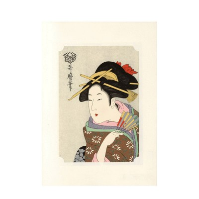 Kunstdruck - Utamaro Bijin
