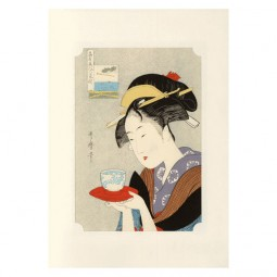 Kunstdruck - Utamaro Geisha Naniwaya Okita