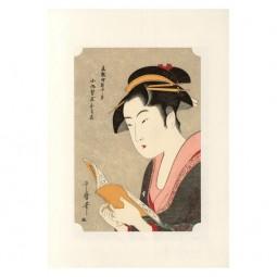Kunstdruck - Utamaro Geisha Ochie