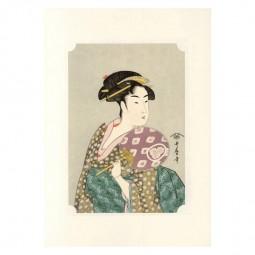 Kunstdruck - Utamaro Geisha Ohisa