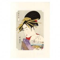 Kunstdruck - Utamaro Nangoku Bijin