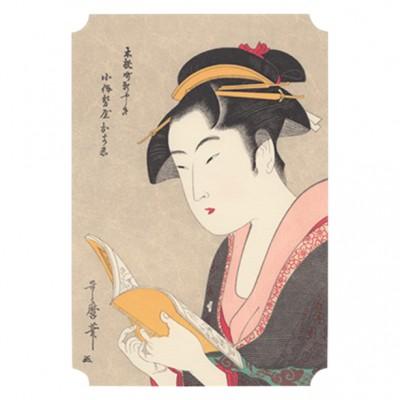 Kunstdruck, Utamaro, Lesen