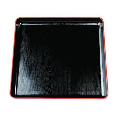 Lack-Servierplatte quadratisch