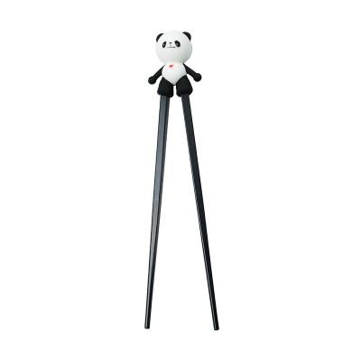 Lern-Essstäbchen 'Panda' schwarz