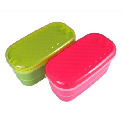 Lunchbox - pink/grün