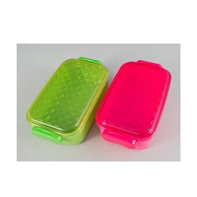 Lunchbox - pink/grün schmal