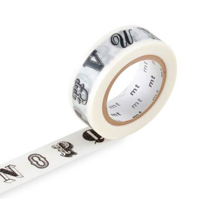Masking Tape - Alphabet, black R