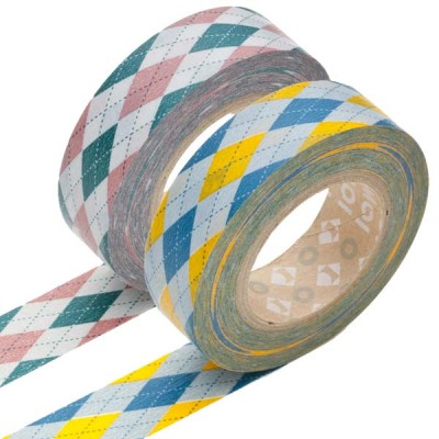 Masking Tape - Argyle, pink & Argyle, yellow