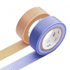 Masking Tape - Border, blue & Border, brown