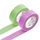 Masking Tape - Border, green & Border, purple