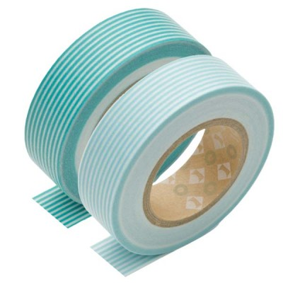 Masking Tape - Border, turquoise green & Border, pale blue