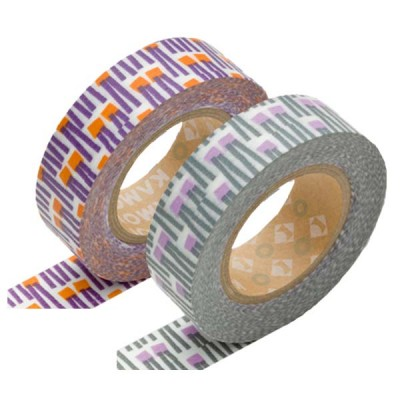 Masking Tape - Carrot, orange & Carrot, purple