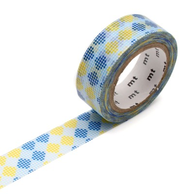 Masking Tape - Checkers Stripe Blue