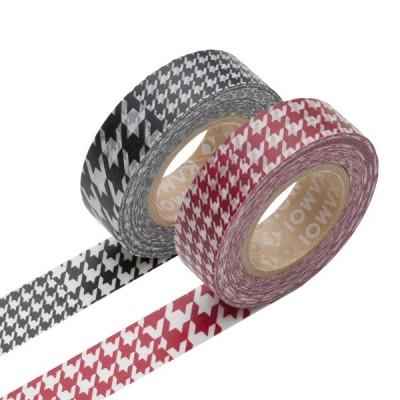 Masking Tape - Chidori, black & Chidori, red