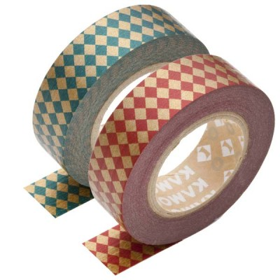 Masking Tape - Diamond, red & Diamond, green