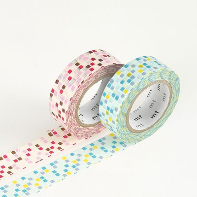 Masking Tape - Tile, pink & Tile, green