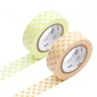 Masking Tape - Dot, moegi & Dot, apricot
