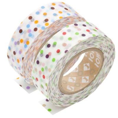 Masking Tape - Drop, green & Drop, lavender