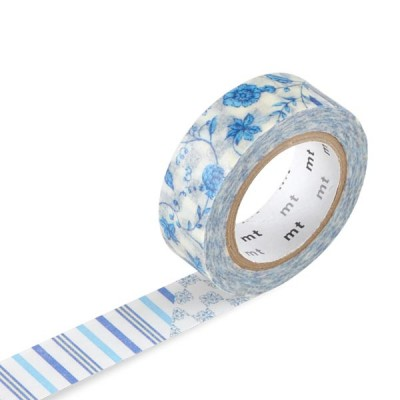 Masking Tape - Flower, dark blue