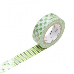 Masking Tape - Flower, green