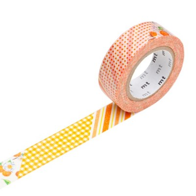 Masking Tape - Flower, orange