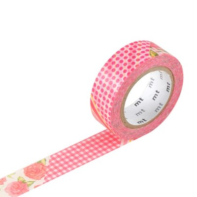 Masking Tape - Flower, red