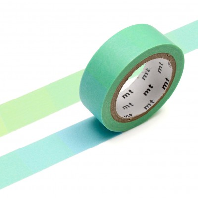 Masking Tape - Fluorescent Gradation Blue x Yellow