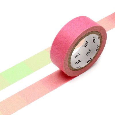 Masking Tape - Fluorescent Gradation Pink x Green